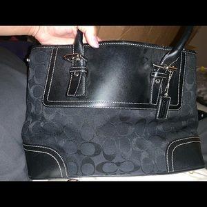 Black coach bag.  NWOT.  Great condition.
